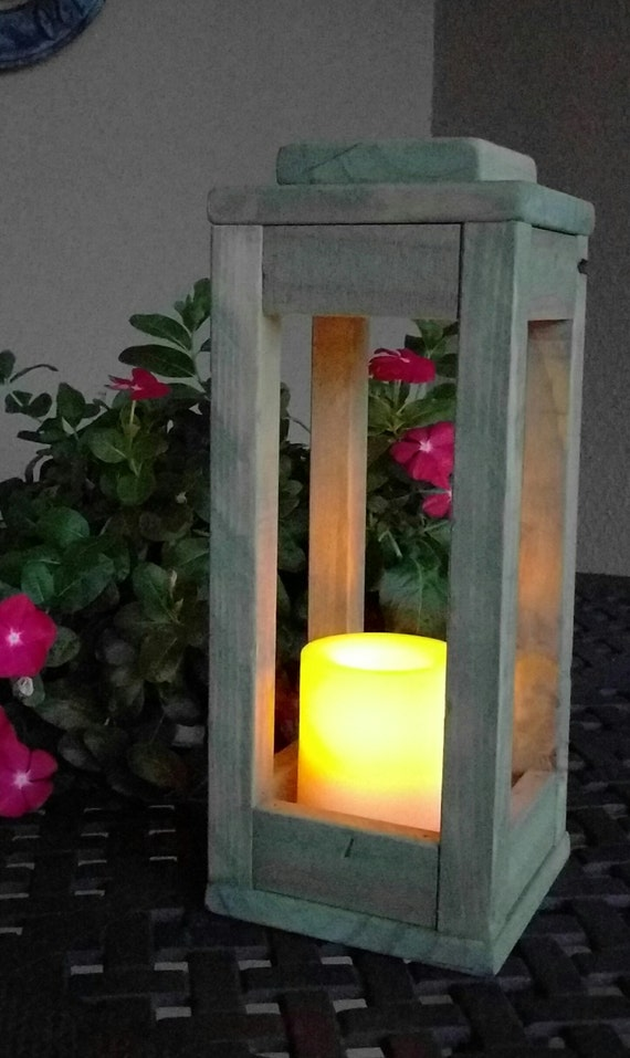 Rustic Indoor Outdoor Lantern Candle Holder Made From
