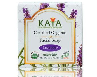 KAYA USDA Certified Organic Facial Soap (Lavender)