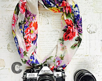 Scarf Camera Strap floral collection