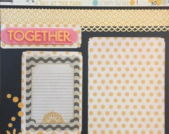 "TOGETHER 12x12"" Premade Scrapbook Page"