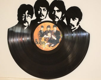 The Beatles Vinyl Record Wall Art