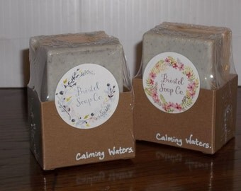 Calming Waters Soap- with Lavender and Cambrian Blue Clay (One Large Bar)