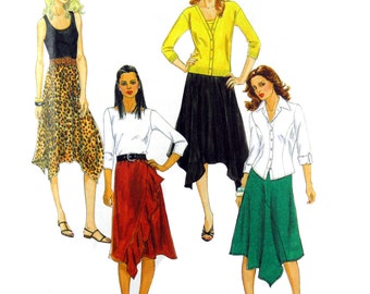 2010 McCall's 6126 Misses' Skirts with Waistline Variations and Shaped Hems, Uncut, Factory Folded Sewing Pattern Multi Size 6-12