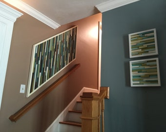 Wooden stairway wall art- Modern stairway art- Wood Wall Art- Contemporary wood wall Art -Unique Modern Wood Wall Art