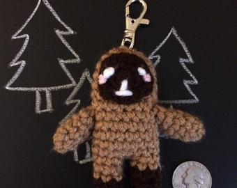 Crochet Sasquatch Keychain: Made to Order