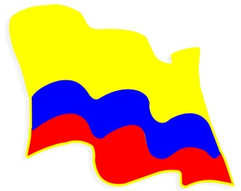 Colombian Flag Car sticker