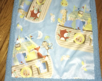 "Noah's ark soft ""lovie"" blanket"