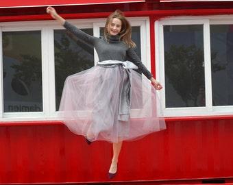Old Rose Tulle Skirt
