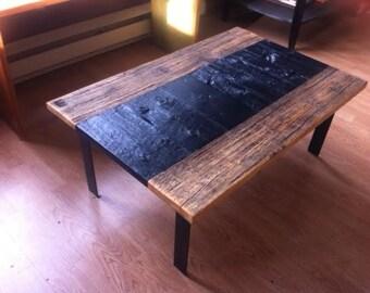 1608 in restored barn wood coffee table, coffee table