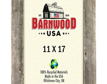 barnwood 11x17 wooden picture frame weathered gray 2 wide frames rustic home decor