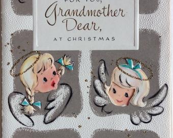 Christmas Card, Vintage, Unused, Grandmother, NOS, 1950s