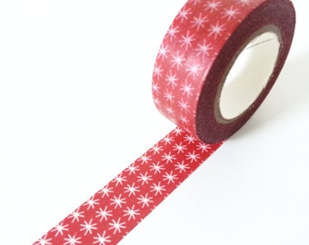 Christmas Washi Tape // Red Tinkle Stars