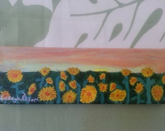 Field of Sunflowers Painting