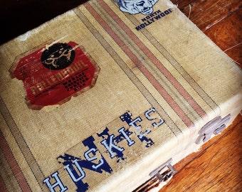 Vintage Retro Suitcase -North Hollywood High Huskies  & Rollerbowl-Prop/Window Dressing