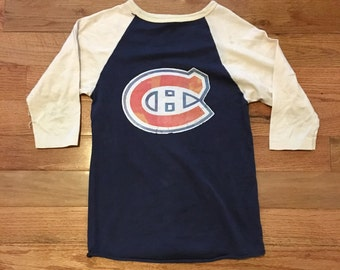 Vintage 70's Montreal Canadiens Raglan • Beat up and amazing