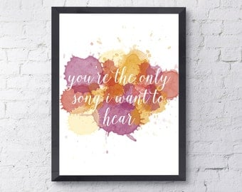 Death Cab For Cutie - Soul Meets Body - Lyric Poster - Digital Print