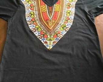 Dashiki T-Shirt; Dashiki; Dashiki Embroidered T-Shirt; African Men fashion; African Men Clothing; T-Shirt