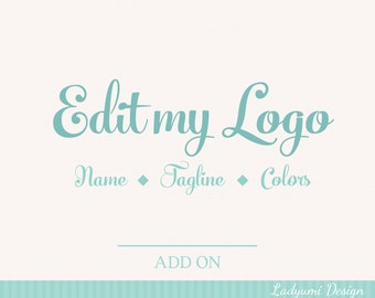 Edit my logo name, tagline and or color changes