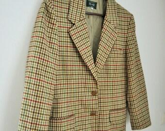 Vintage Womens Jacket / Suit / Blazer / Ladies / Wool / Cashmere / Fall / Winter /