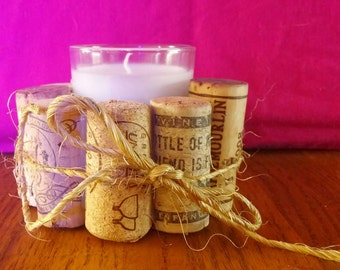 Wine Cork Candle Holder, Cork Candle Holder, Candle, Candle Holder