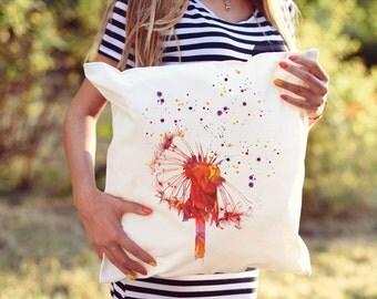 Dandelion Decorative Pillow - Home Decor - Throw Pillow - Accent Pillow - Watercolor Pillow