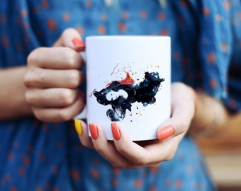 Fashion Girls Mug - Watercolor Mugs - Ceramic Mug - Art Mug - Colorful Coffee Mug