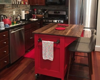 Customizable, Kitchen Island, Kitchen Storage, rolling island, Seating, kitchen  island on