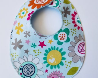 "Bib ""flowers and stars"""