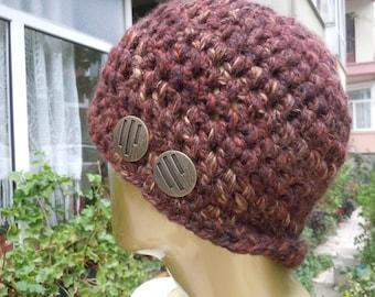 Brown Women And Men Hats, men hat, women hat, beanie hats, crochet hat