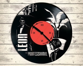 Vinyl Clock/LEON/ An interesting element of the decor/ For music and art lovers
