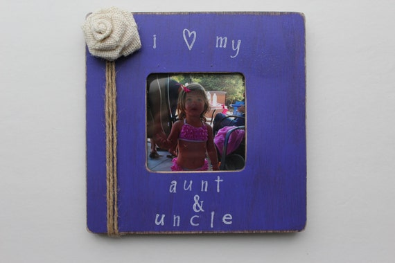 aunt and uncle picture frame purple photo frame rustic