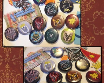 Future Card Buddyfight!! Flag Buttons 12 types 1.5 in