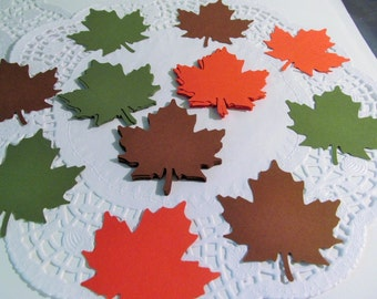 36 Large Leaf Die Cuts, Papercrafting, Cardmaking, Scrapbooking, Gift Tags, Cupcake Toppers, Large Confetti, Fall Decor - Rustic Combination