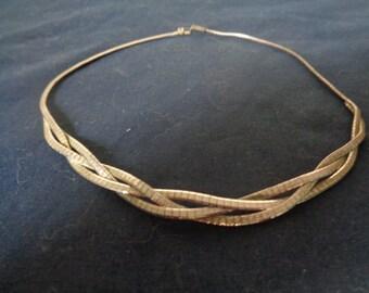 Vintage German 835 Silver Choker Necklace - 16-1/2 inch length
