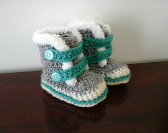Boot for baby to crochet Baby booties (on order)