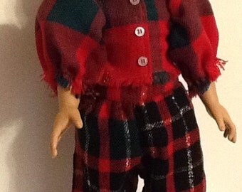 "Christmas Loungewear or PJ for your 18"" Doll such as the American Girl sized doll."