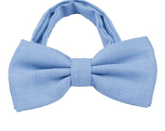 Blue Wool Bow Ties. Mens Bowties Wool.Bowtie for Winter/Fall Wedding