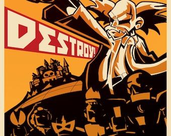 DESTROY! - Dr. Wily Propaganda Poster