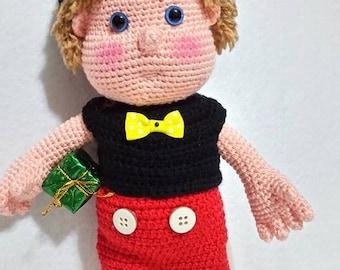 The Boy With Mickey Mouse Costume  -Amigurumi Crochet Pattern -PDF