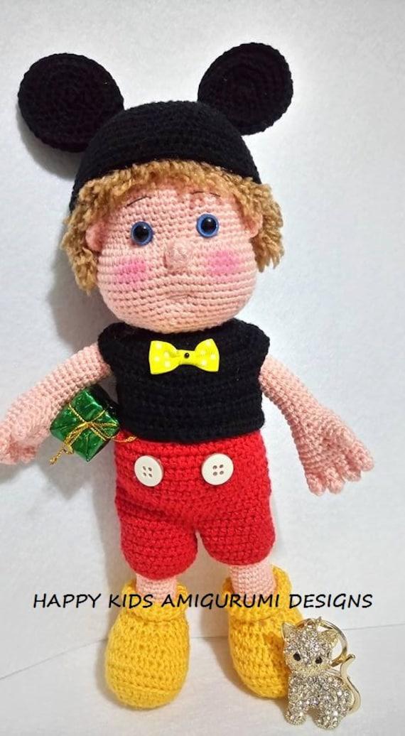 Mickey Mouse Amigurumi Mercadolibre : The Boy With Mickey Mouse Costume Amigurumi Crochet Pattern