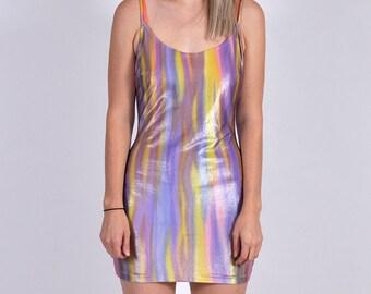 90's Shiny Party Mini Dress XS/S
