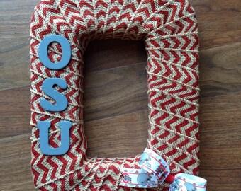 OSU block O Wreath/ Ohio state Wreath/ Buckeye wreath