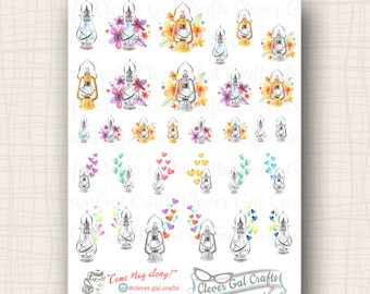 Love Lights Lanterns Planner Stickers | 31 Stickers Total | #SD08
