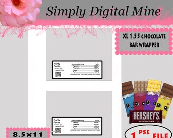 YOU Design!!! Large candy bar wrapper Templates!!