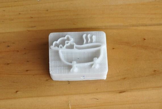 Vasca da bagno resina sapone bollo sigillo timbro biscotti - Vasca da bagno in resina ...