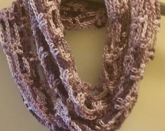 Artfully Simple Infinity scarf in Purple Ombre