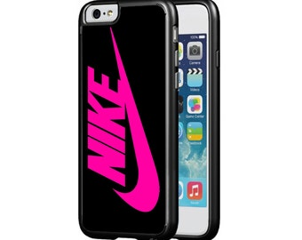 Nike Swoosh Protective Phone Case for iPhone 5/5s, iPhone 6/6s, iPhone 6 PLUS,  Pink and Black