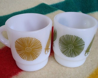 Fire King Vintage Mugs set of two