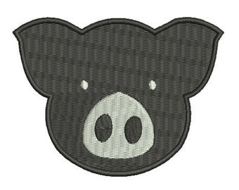 Machine Embroidery Design Pig, instant download machine embroidery pattern - 4 sizes