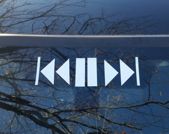 Rewind, Pause, Fast Forward - Stereo Car Decal - Music - Vinyl Sticker- Wall Sticker- Wall Decal